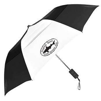 Windproof Vented Auto-Open Folding Umbrella