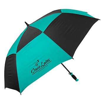 The Vented Checkerboard Golf Umbrella