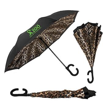 The Leopard ViceVersa Inverted Umbrella - Manual-Open, Reverse Closing