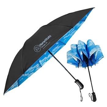The SkyView Inverted Folding Umbrella - Auto-Open, Reverse Auto-Closing