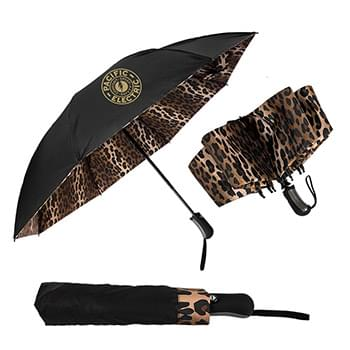 The Leopard Inverted Folding Umbrella - Auto-Open, Reverse Auto-Closing