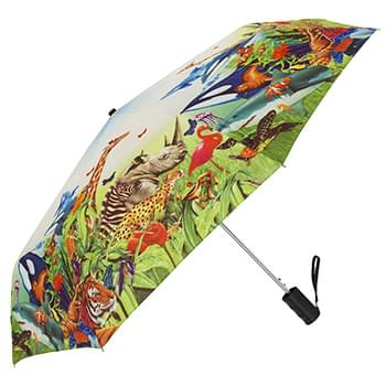 Single Canopy Std Digitally Printed Windproof Umbrella (single canopy, single print)